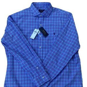 Ralph Lauren Plaid Oxford Shirt Men's XL NWT